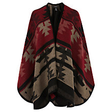 Buy Warehouse Aztec Pattern Cape Online at johnlewis.com
