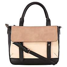 Buy Warehouse Satchel Day Bag, Stone Online at johnlewis.com