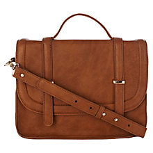 Buy Warehouse Metal Keepers Satchel, Tan Online at johnlewis.com