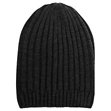 Buy Warehouse Boyfriend Beanie Hat, Dark Grey Online at johnlewis.com