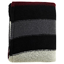 Buy Warehouse Stripe Knitted Scarf, Multi Online at johnlewis.com