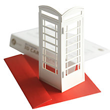 Buy Gallery One 3D Standing Telephone Box Greeting Card Online at johnlewis.com