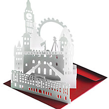 Buy Gallery One 3D Standing London Skyline Greeting Card Online at johnlewis.com