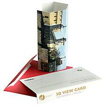 Buy Gallery One 3D View Tower of London Greeting Card Online at johnlewis.com