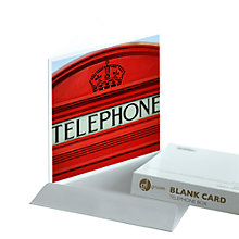 Buy Gallery One Telephone Box Greeting Card Online at johnlewis.com