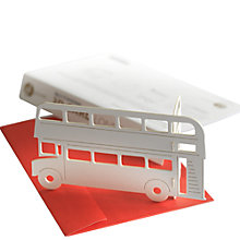 Buy Gallery One 3D Standing London Bus Greeting Card Online at johnlewis.com
