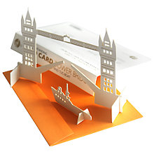 Buy Gallery One 3D Standing Tower Bridge Greeting Card Online at johnlewis.com