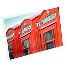 Buy Gallery One London Telephone Box Postcard Online at johnlewis.com