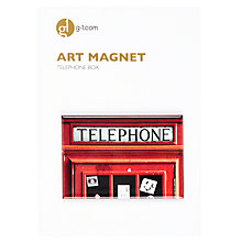 Buy Gallery One Telephone Box Square Art Magnet Online at johnlewis.com