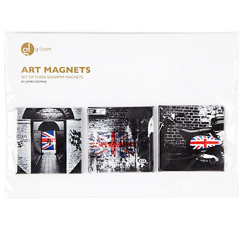 Buy Gallery One Union Jack Series Art Magnets, Set of 3 Online at johnlewis.com