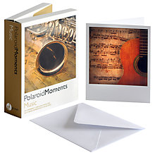 Buy Gallery One Music Polaroid Moments Greeting Cards, Pack of 20 Online at johnlewis.com