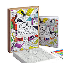 Buy Gallery One Butterflies You Colour Canvas, 17 x 17cm Online at johnlewis.com