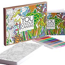 Buy Gallery One Sea Turtle You Colour Large Canvas, 16 x 30cm Online at johnlewis.com