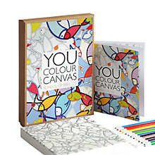 Buy Gallery One School of Fish You Colour Canvas, 17 x 17cm Online at johnlewis.com
