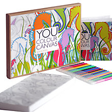 Buy Gallery One Seahorses You Colour Large Canvas, 16 x 30cm Online at johnlewis.com