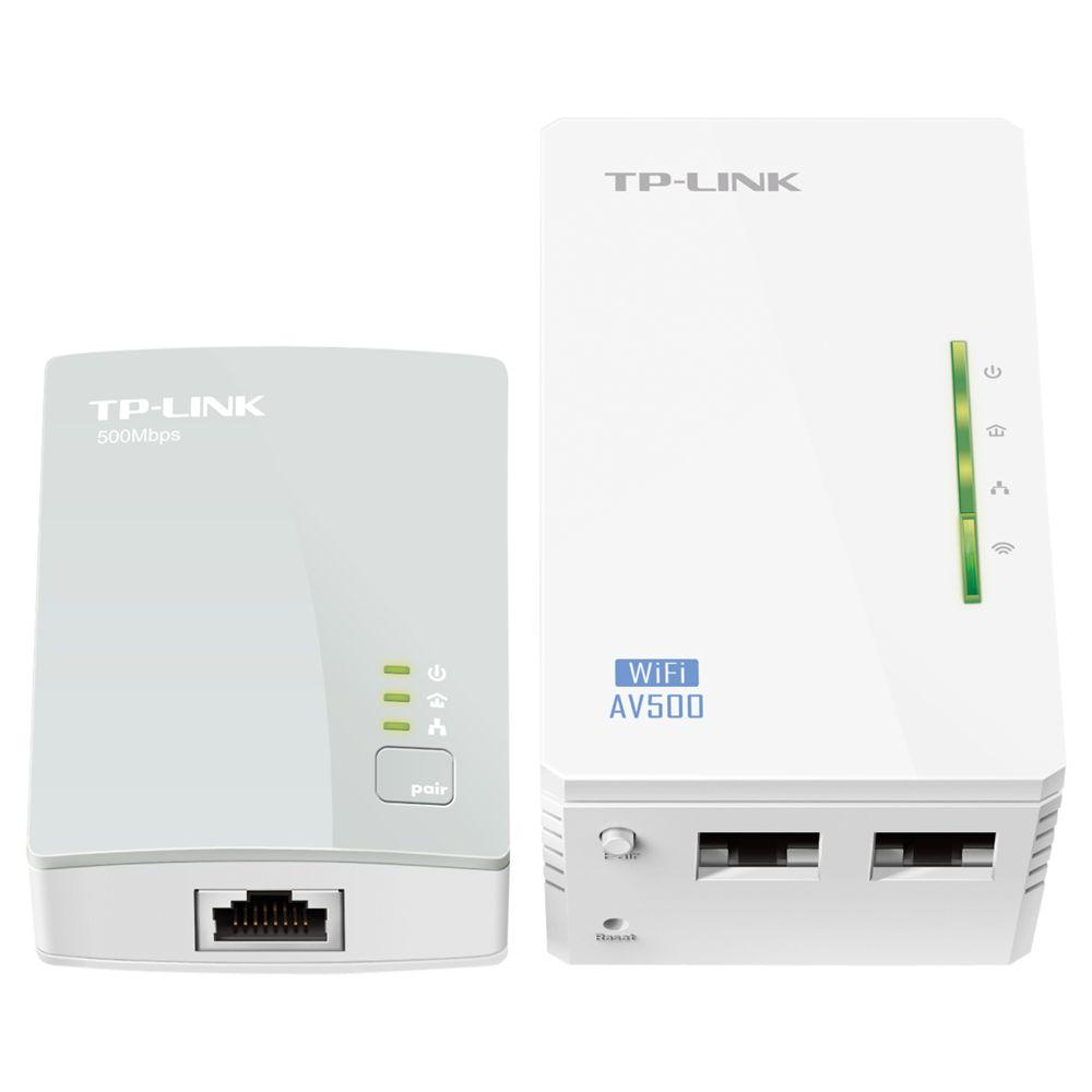 TP-Link TP-LINK 300Mbps AV500 Wi-Fi Powerline Extender Starter Kit, TL-WPA4220KIT