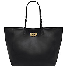 Buy Mulberry Dorset Medium Leather Tote Handbag, Nappa Black Online at johnlewis.com