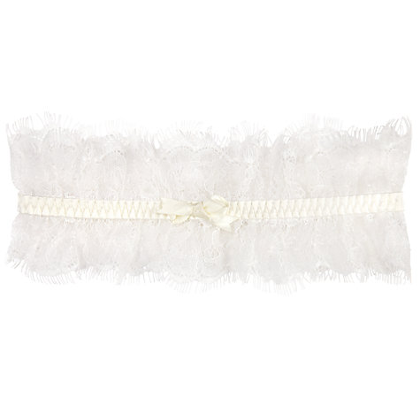 Buy Somerset by Alice Temperley Gatsby Bridal Garter, Ivory Online at johnlewis.com