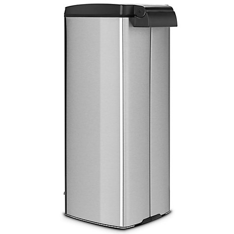 Buy Brabantia MotionControl Rectangular Pedal Bin, Fingerprint Proof Matt Steel, 25L Online at johnlewis.com