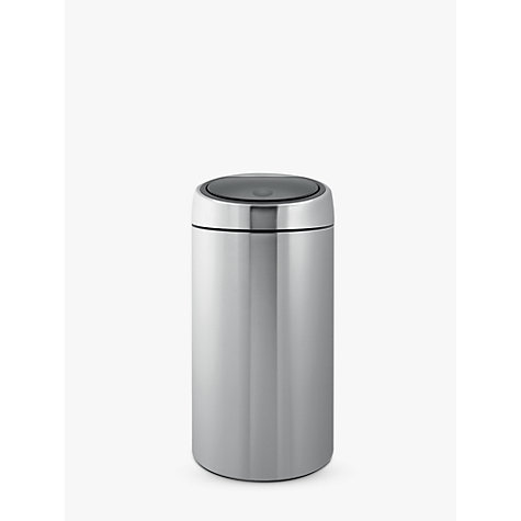 Buy Brabantia Twin Recycling Touch Bin, Fingerprint Proof Matt Steel, 20/20L Online at johnlewis.com