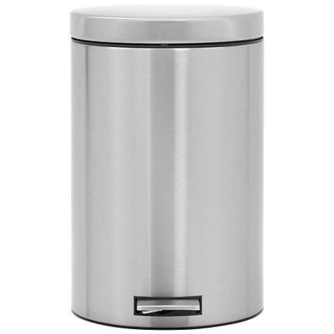 Buy Brabantia MotionControl Pedal Bin with Bio Bucket, Fingerprint Proof Matt Steel, 20L Online at johnlewis.com