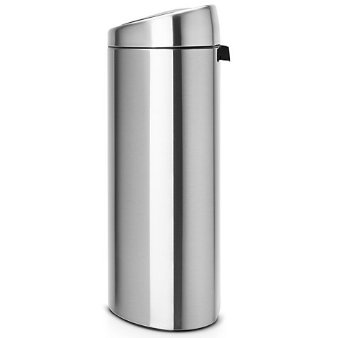 Buy Brabantia Touch Bin, Fingerprint Proof Matt Steel, 40L Online at johnlewis.com