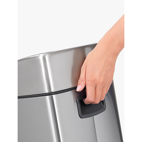 Buy Brabantia Rectangular Touch Bin, Fingerprint Proof Matt Steel, 25L Online at johnlewis.com