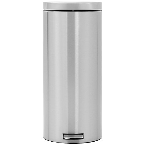 Buy Brabantia MotionControl Pedal Bin, Fingerprint Proof Matt Steel, 30L Online at johnlewis.com