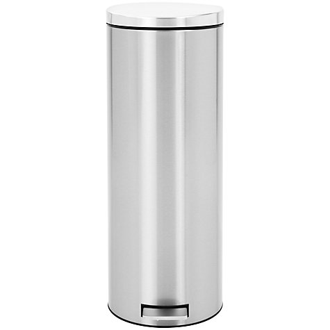 Buy Brabantia MotionControl Slimline Pedal Bin, Fingerprint Proof Matt Steel, 20L Online at johnlewis.com
