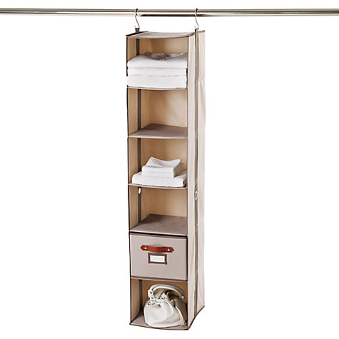 Buy neatfreak closetMAX Greystone Collection 6 Shelf Organiser Online at johnlewis.com