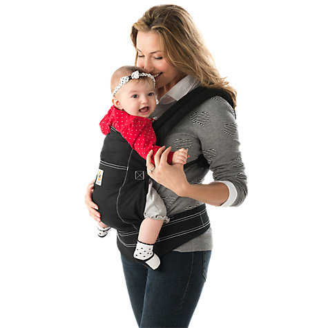 Buy Ergobaby Xtra Baby Carrier, Black Online at johnlewis.com