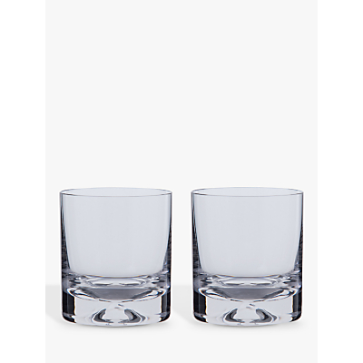 Dartington Crystal Dimple Old Fashioned Whiskey Glasses, Set of 2