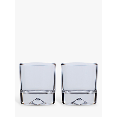 Dartington Crystal Dimple Double Old Fashioned Whiskey Glasses, Set of 2