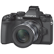 "Buy Olympus OM-D E-M1 Compact System Camera with 12-50mm Lens, HD 1080p, 16.3MP, Wi-Fi, EVF, 3"" LCD Screen with 16GB + 8GB Memory Card Online at johnlewis.com"