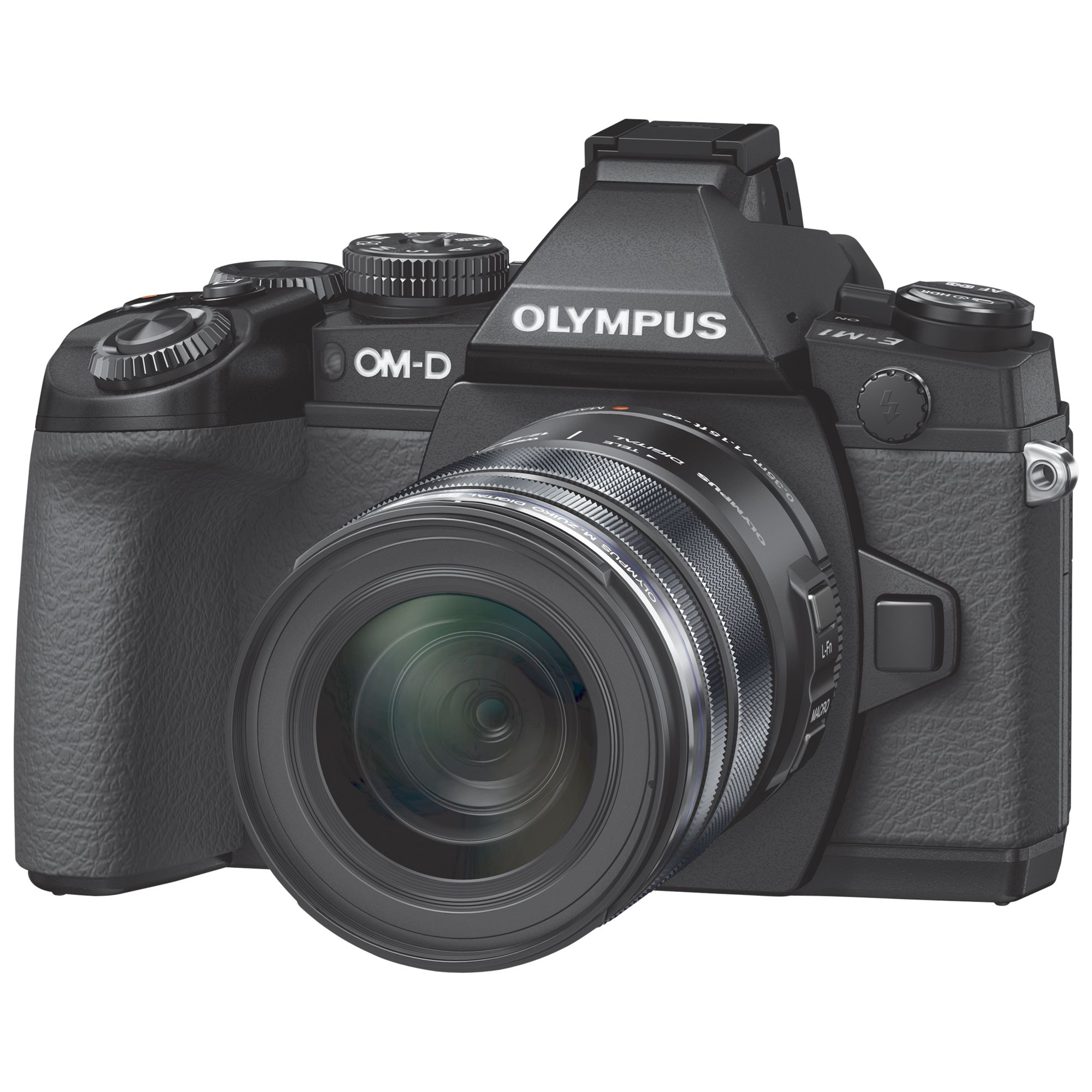Olympus Olympus OM-D E-M1 Compact System Camera with 12-50mm Lens, HD 1080p, 16.3MP, Wi-Fi, EVF, 3 LCD Screen