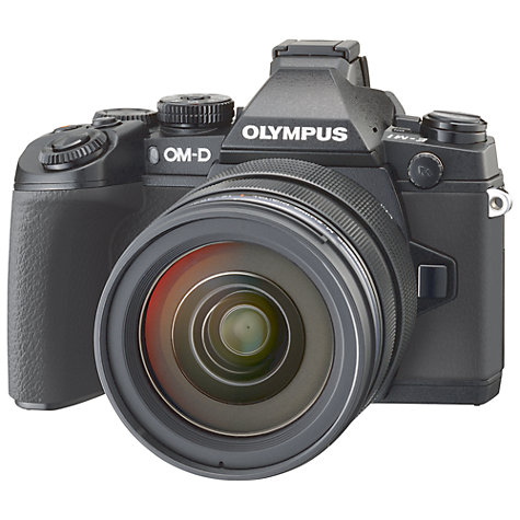 "Buy Olympus OM-D E-M1 Compact System Camera with 12-40mm Lens, HD 1080p, 16.3MP, Wi-Fi, EVF, 3"" LCD Screen Online at johnlewis.com"