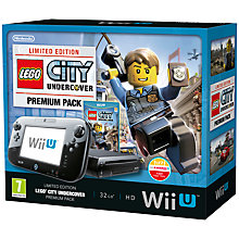 Buy Nintendo Wii U 32GB Premium Pack with Lego City: Undercover, Sensor Bar and Accessories, Black Online at johnlewis.com