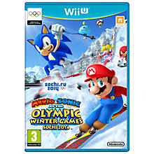 Buy Mario & Sonic at the Sochi 2014 Olympic Winter Games, Wii U Online at johnlewis.com