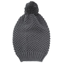 Buy Whistles Waffle Stitch Hat, Grey Online at johnlewis.com
