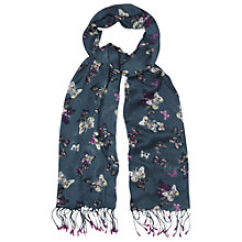 Buy White Stuff Butterfly Garden Scarf, Teal Online at johnlewis.com