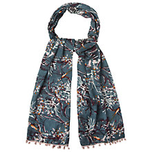 Buy White Stuff Japanese Garden Scarf, Teal Online at johnlewis.com