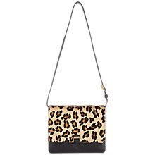 Buy Whistles Leopard Print Calf Hair Satchel Handbag, Leopard Print Online at johnlewis.com