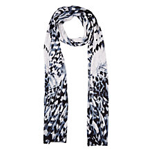 Buy Planet Feather Print Scarf, Grey Online at johnlewis.com