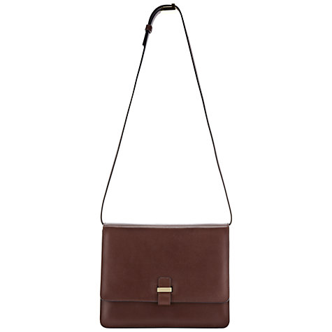 Buy Whistles Swing Satchel Handbag, Plum Online at johnlewis.com