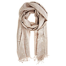 Buy Coast Jacquard Scarf, Oyster Online at johnlewis.com