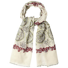 Buy White Stuff Embellished Floral Circle Scarf, Off White Online at johnlewis.com