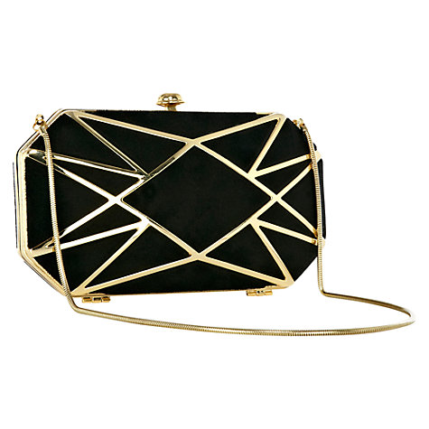 Buy Coast Diamondis Clutch, Black Online at johnlewis.com