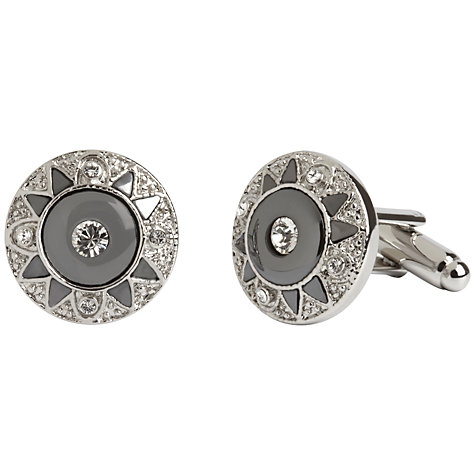 Buy Simon Carter Victoriana Haematite and Crystal Cufflinks, Metallic Online at johnlewis.com