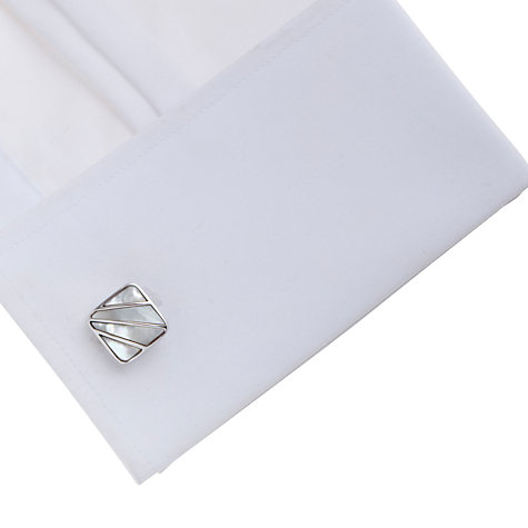 Buy Simon Carter Art Deco Mother of Pearl Cufflinks, Cream Online at johnlewis.com