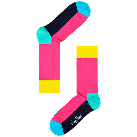 Buy Happy Socks 5-Colour Cotton Socks, One Size, Pink Online at johnlewis.com